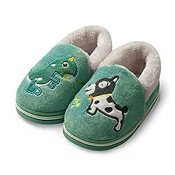 3. GaraTia Dinosaur Toddlers House Slipper Booties