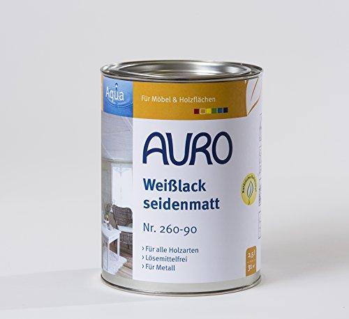 Auro Weißlack Aqua, seidenmatt