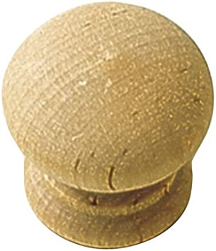 Hickory Hardware Natural Woodcraft Cabinet Knob P684-UW 2 Pack Round 1-1//4-Inch Unfinished Wood