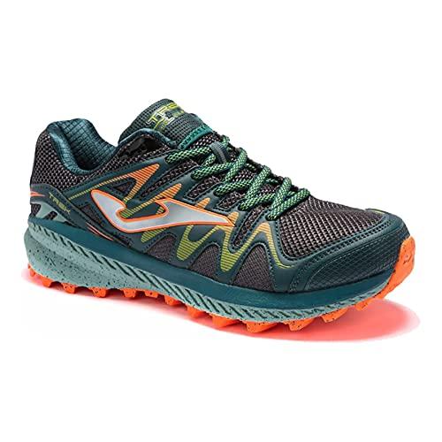 JOMA TKTRES2115, Zapatillas de Trail para Hombre Verde/Naranja, EU 45
