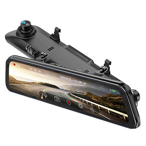 【令和2020年最新版12インチ液晶大画面&GPS搭載】ドライブレコーダー ミラー型 前後カメラ 2k 高解像度 ...