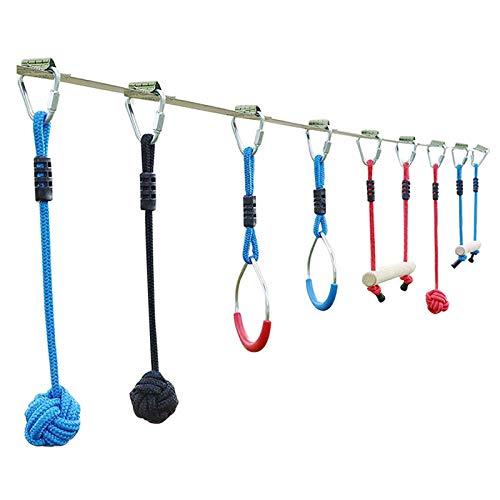 Balance-Trainingsset, Outdoor-Kletterset, Outdoor-Seilarm-Krafttrainingsanzug, Kinder-Swing-Hindernis-Set Und Ruder Fun Toy Warrior-Hindernisparcours
