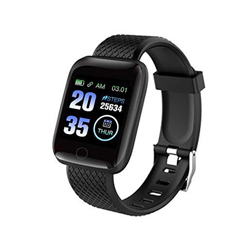 Lechnical Reloj Inteligente BT Rastreador de Ejercicios Contador de Pasos Universal Monitor de Ritmo cardíaco de presión Arterial Reloj de Pulsera Deportivo