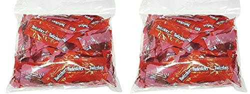 Twizzlers Twists Strawberry Flavored Wrapped Candy 2 Pound Bag - Individually Wrapped
