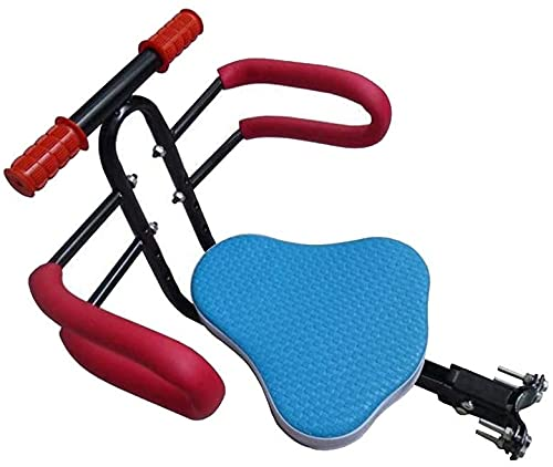 X&Y Asiento Delantero para niños Plegables para Bicicletas, liberación rápida para la Silla de Seguridad de la Bicicleta eléctrica con Cerca y apoyabrazos para niños bebé (Color : Blue)