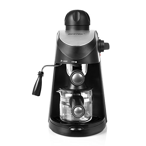 BESTEK 10 Cup Drip Coffee Maker in Stainless Steel, Programmable and Aroma Control, with Permanent Filter (Latte Cappuccino Maker)