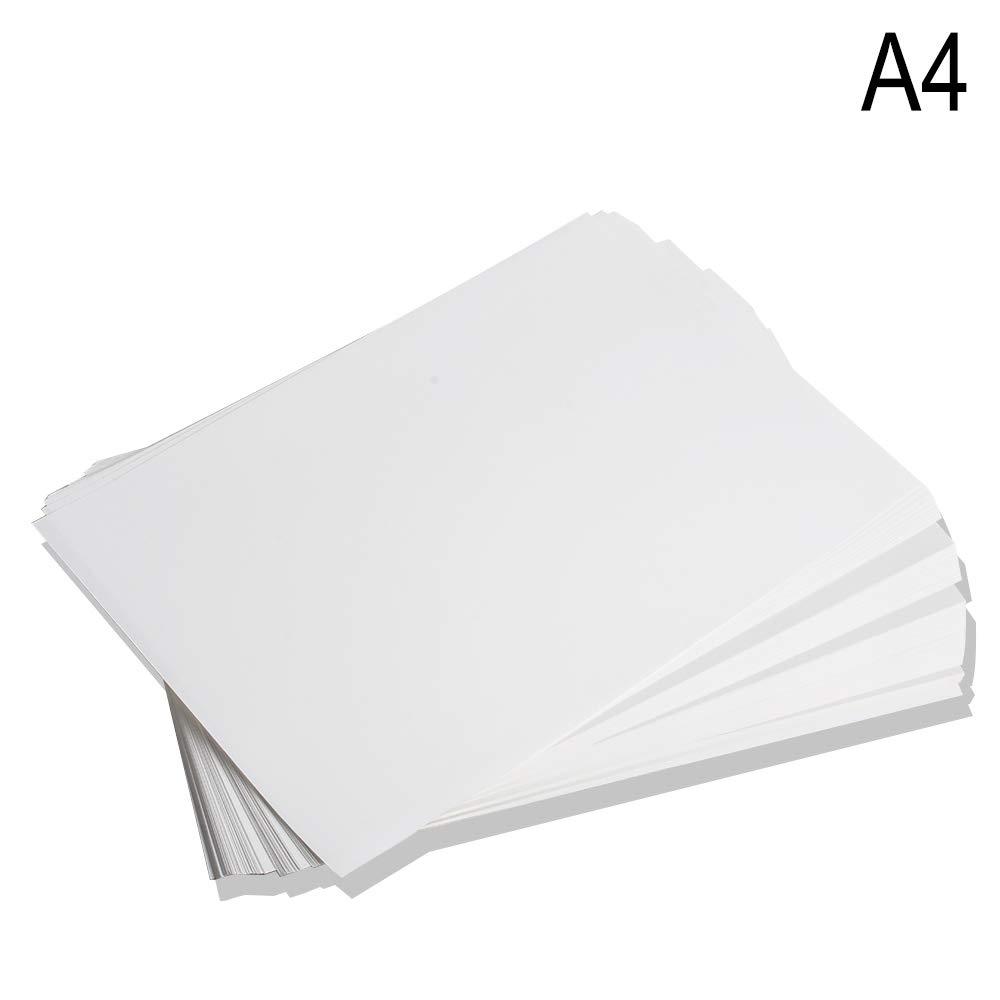 100 hojas A4 de papel de transferencia de calor por sublimación de tinte para taza, taza, plato, camiseta de poliéster y algodón de USA STOCK: Amazon.es: Oficina y papelería