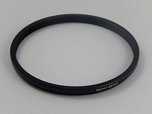 vhbw Anillo Step Down diámetro de 86mm a 82mm Compatible con cámara, cámara Digital, Objetivos - Negro