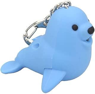 Ktyssp Cute Cartoon Seal Keychain LED Light Sound Keyfob Kids Toy Gift