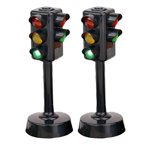 TOYANDONA 2 Stück Ampel Spielzeug Ampel Lampe mit Ständer Ampel Spielzeug Frühes Lernspielzeug für Kinder Kleinkinder