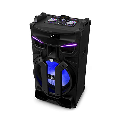 "auna Silhouettes Party-Soundsystem 18\"", Leistung: 600 Watt, XMR Bass Technology, 18\""-Lautsprecher, 2 x Bluetooth-Schnittstelle (für Eingangssystem A+B), 2 x USB-Port, 2 x SD-Slot, schwarz"