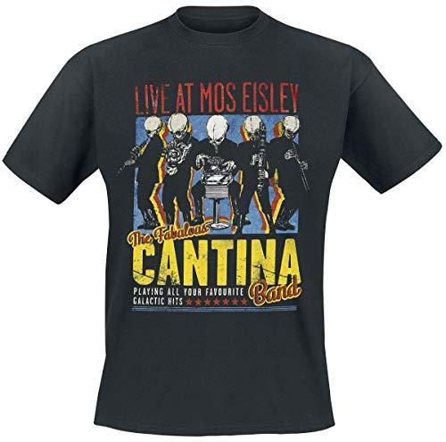 Star Wars Cantina Band On Tour Männer T-Shirt schwarz XXL 100% Baumwolle Fan-Merch, Film