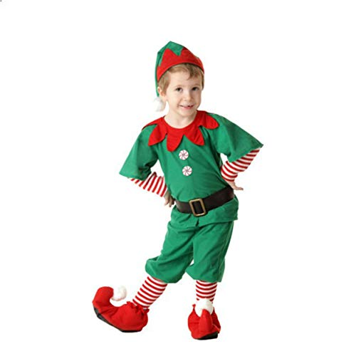 YXDS Disfraz de Halloween para nios, Disfraz de Elfo navideo para Adultos, Disfraz para Padres e Hijos, pao Suave para Cosplay de Halloween