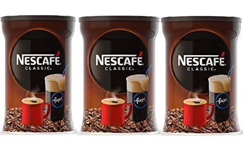 Nescafe Classic Frappe 3x 200 g , Instantkaffee, Eiskaffee, griechischer Kaffee, Frappé Greece (600 g)