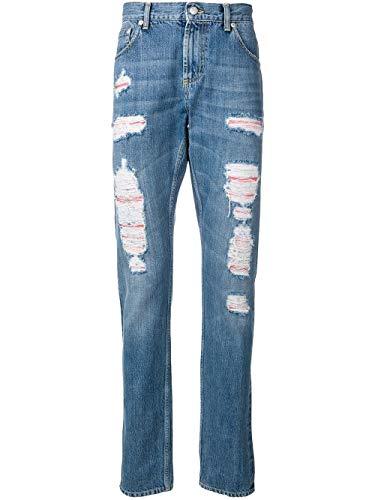 Luxury Fashion | Alexander Mcqueen Heren 558601QMY494001 Donkerblauw Katoen Jeans | Seizoen Outlet