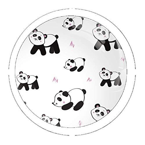 Panda Flying in the Sky Set von 4 Kommodenknöpfen – Bunte dekorative Schubladengriffe Home Decor Hardware Pull Knobs, mehrfarbig08, 3.5×2.8CM / 1.38×1.10in