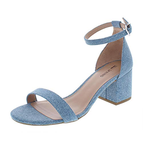 Call It Spring Womens Stangarone Fabric Open Toe Casual Light Blue