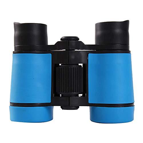 Prismáticos juguete de goma ajustable Mini ligeros Prismáticos binoculares compactos para niños para los regalos de los niños Telescopio Juguetes para niños educativos Blue Sky