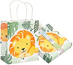 Small Lion Party Favors Bags for Jungle Safari Birthday Decorations (15 Pack)
