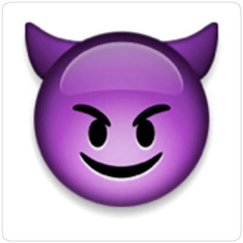 Jess-Sha Store 3 PCs Stickers Devil Emoji, Devil Sticker for Laptop, Phone, Cars, Vinyl Funny Stickers Decal for Laptops, Guitar, Fridge