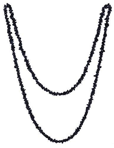 Lebensquelle Plus Schwarzer Turmalin/Schörl Splitterkette lang endlos ohne Verschluss 90 cm