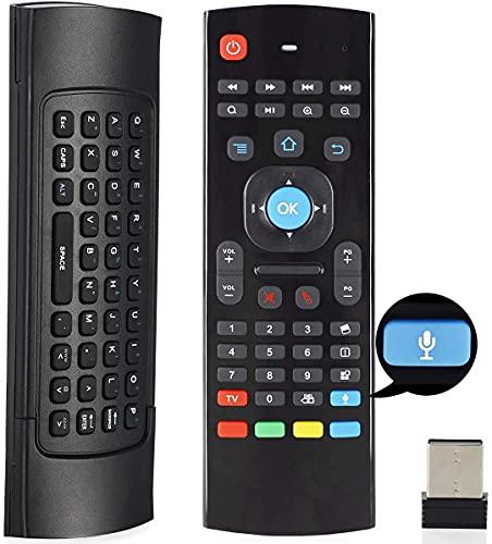 Telighter Air - Ratón remoto de 2,4 GHz con entrada de voz, Android TV, mando a distancia, inclinación por infrarrojos para Android...
