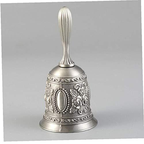 DierCosy Tools Alarma de la Boda del Metal de la Vendimia la Llamada Bell Dinner Bell para el Restaurante Hotel Iglesia Tienda Escuela de Decoración de Plata