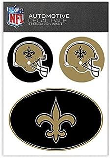NFL New Orleans Saints Medium Decal Pack