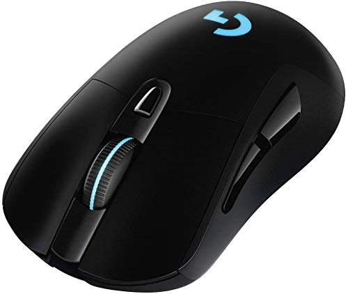 Logitech G703 LIGHTSPEED kabellose Gaming-Maus mit HERO 16000 DPI Sensor, Wireless Verbindung, LIGHTSYNC RGB, POWERPLAY-kompatibel, Geringes Gewicht von 95g, Schwarz - Deutsche Verpackung
