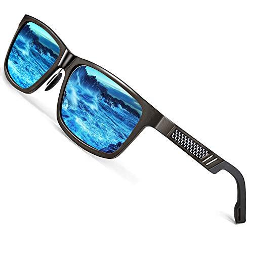 ROCKNIGHT HD Polarized Sunglasses for Men Fishing Blue Sunglasses Mirrored Casual Beach Sunglasses for big head
