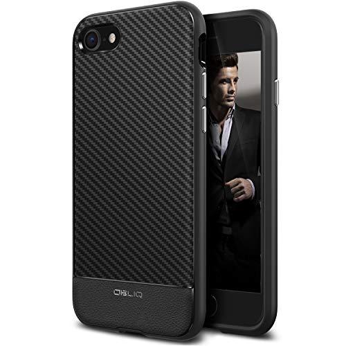 OBLIQ [Flex Pro] Designed for iPhone SE 2020 case [2nd Generation], iPhone 8 case Premium Slim Fit Protective TPU Cover for Apple iPhone SE 2020/iPhone 8 (2017) (Black Carbon)