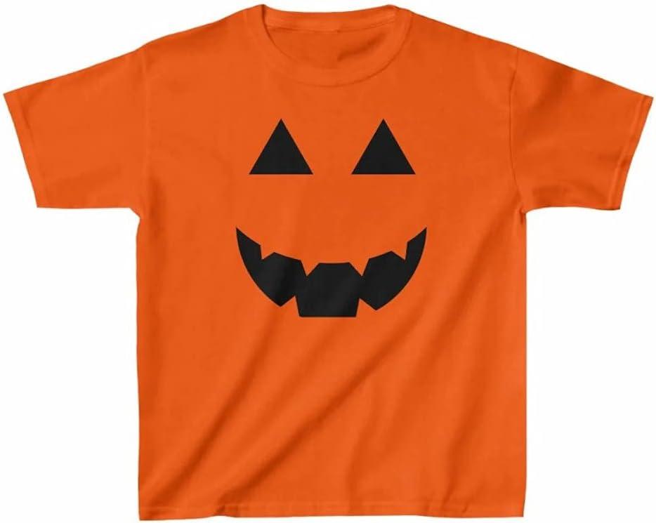 Kids Heavy Cotton Jack O'Lantern Tee Custom Personalized Unisex T-Shirt