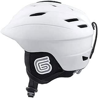 Grayne MTN Ski and Snowboard Helmet White w/Audio Ready Liner