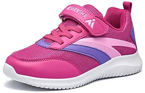 Mishansha Kinder Laufschuhe Mädchen Atmungsaktiv Sportschuhe Junge Joggingschuhe Rosa 32