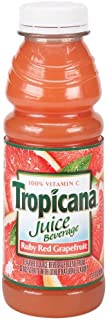 Tropicana Ruby Red Grapefruit, 15.2-Ounce Bottles (Pack of 12)