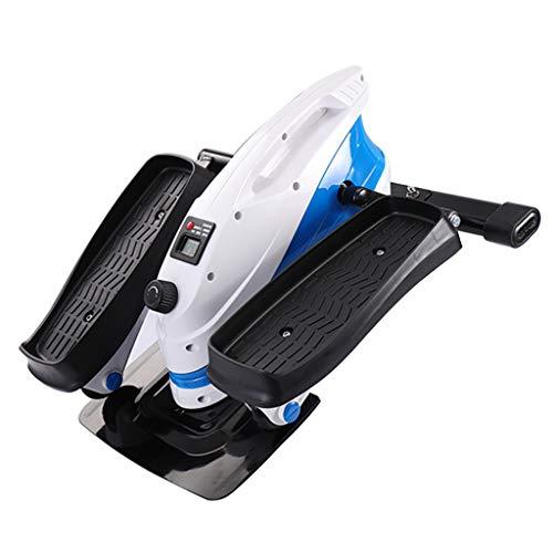 Elípticas Mini Paso a Paso silencioso Equipo de Gimnasia for Adelgazar Bicicleta Multifuncional Instalación Gratuita de Material Deportivo (Color : Blue, Size : 43 * 43 * 28cm)