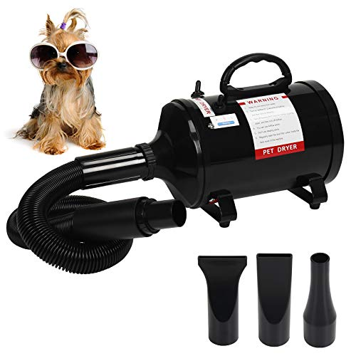 Display4top 2400W Dog Blower,Professional Portable Dog Dryer,3.2HP Speed Adjustable Heat Temperature Pet Dog & Cats Hair Dryer Blower for Home Grooming
