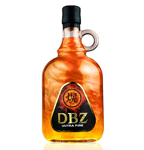 DBZ ULTRAFIRE-GOLD | CON EFECTOS DE FUEGO | Base de vodka con sabor a tofe 700 ml