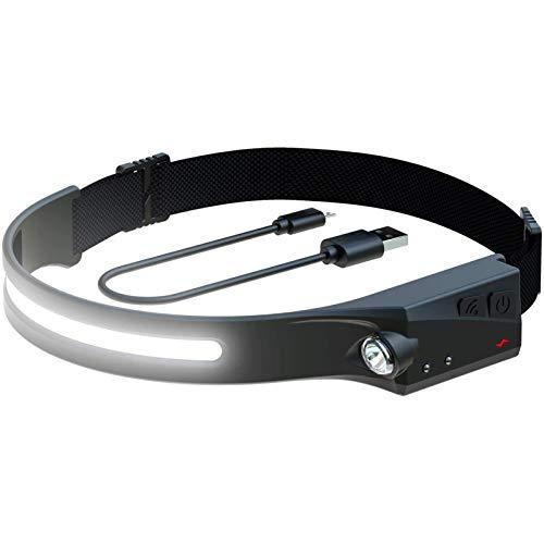 Liuxingyu El Nuevo USB Recargar Sensor De Faro Fuente De Luz Dual Noche para Correr Faro Exterior Montañismo Cámping Impermeable Lámpara De Cabeza