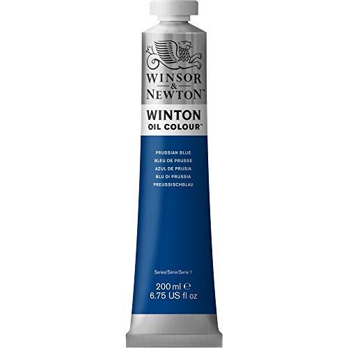 Winsor & Newton 1437538 Winton Oil Color Paint, 200-ml Tube, Prussian Blue