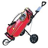 Celendi Collapsible 3 Wheel Golf Pull Push Cart Trolley, Golf Cart Wheels with Scorecard Drink Holder