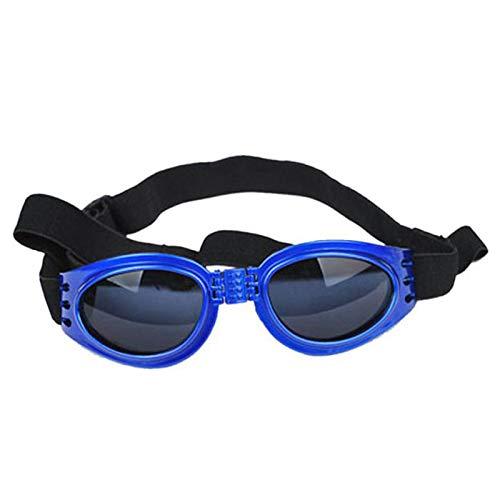 ASDFGHJKL Protección UV Perro Mascota Gafas De Sol A Prueba De Viento del Perrito Perrito Gafas De Sol Plegables con Correa Ajustable