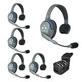 Eartec UL5S 5-Person Full Duplex Wireless Intercom with 5 Ultralite Single Ear...