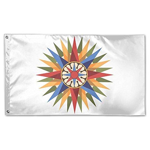 Compass Rose Garden Flag&Decorative Flag For Wedding Home Outdoor Garden&Anniversary Home Outdoor Garden Decor 3' X 5'