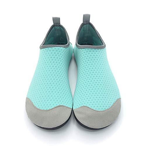 Vast Calcetines de natación unisex con impresión de color de verano, Aqua playa, playa, playa, playa, pantuflas para hombres y mujeres (tamaño: 34-35, color: verde)