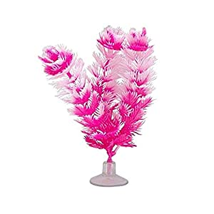 Marina Vibrascaper Fish Tank Decorations, Foxtail Plant, White, 5in, 12083