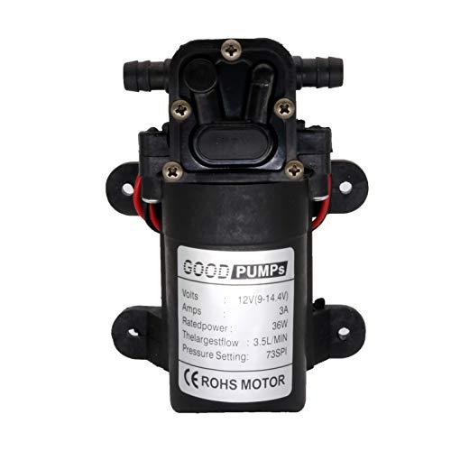 OSHL Acqua ad Alta Pressione Diaframma Pompa Autoadescante Camper/Roulotte/Barca/Giardino DC12 V 73PSI 3.5l/m
