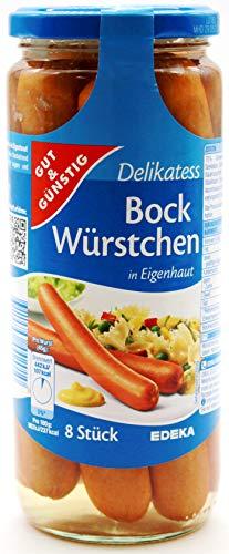 Gut und Günstig Delikatess Bock Würstchen, 6er Pack (6 x 530g)