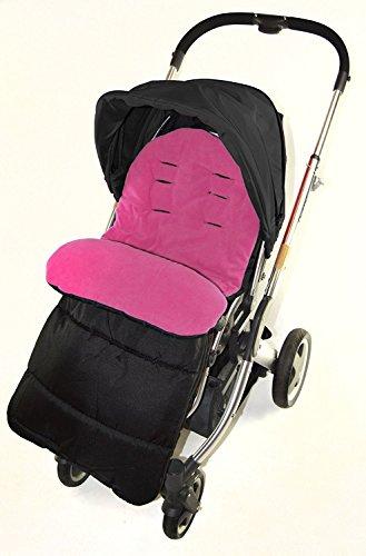Fußsack/COSY TOES kompatibel mit BabyStyle Oyster Jule Kinderwagen pink rose