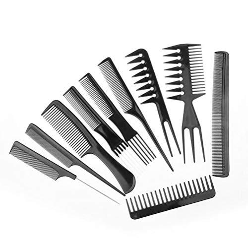 Macabolo Lot de 10 peignes de coiffeur antistatique pour fille